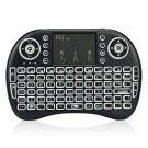 Rii 2.4GHz RF Mini Wireless Keyboard with Touch Pad Mouse for Kodi XBMC Media Player Black (i8s)