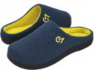 VeraCosy Men's Two-Tone Memory Foam Slippers - Blue Maize (8/9 UK)