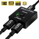 Snxiwth HDMI Switch, Splitter HDMI Bi-Directional 2 Input to 1 Output Switch or 1 in to 2 Out, Supports 3D, 1080p, 4K