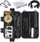 Proster 13 in 1 Emergency Survival Gear Survival Tool for Camping Outdoor Sports Travel Hiking