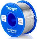 TABIGER Lead Free Solder Wire 97Sn-2Rosin-0.7Cu-0.3Ag (0.8mm 100g)