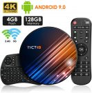 TICTID Android 9 TV Box 4GB ram 128GB rom with Touchpad Keyboard BT 4.0 USB 3.0 Quad-Core RK3318 (R8 Max)