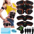 Unisex EMS Abs Trainer Muscle Stimulator  3 In 1 USB Rechargeable LCD Display With 10 Pcs Gel (10 Modes & 20 Levels)