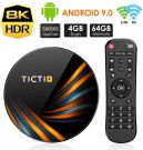 TICTID Smart TV Box 4 GB / 64 GB Android TV Box with S905X3 Quad Core Cortex-A55 supports 8K/HD/WiFi 2.4G/5G/USB 3.0/USB 2.0 (TX6 Plus)