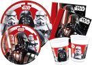 Ciao Y4491 Star Wars Final Battle Party Table Kit for 24 People (112 Items: 24 x Large Plates, 24 x Medium Plates, 24 Cups, 40 Napkins)
